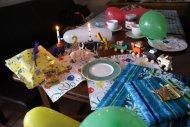 Ein Blick über den Geburtstagstisch