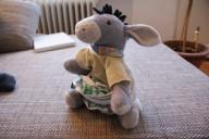 Frische Windel für den Esel...