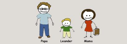 Leanders Familie